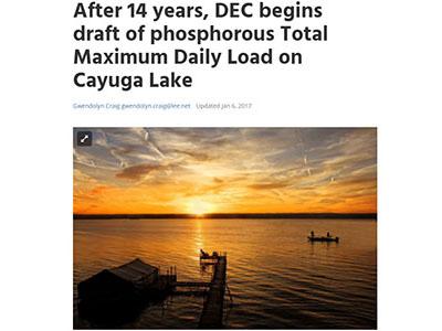 NYSDEC begins draft of phosphorous TMDL on Cayuga Lake