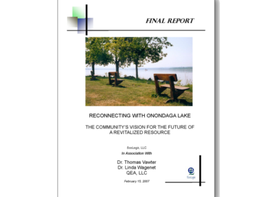 Onondaga Lake Rehabilitation Guidance: 2020 Vision Project