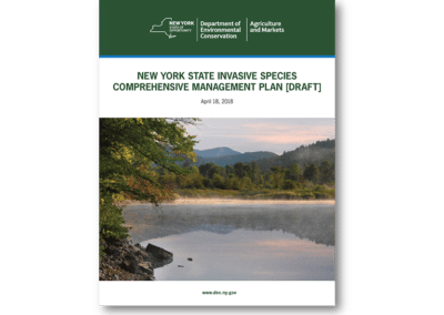 Invasive Species Comprehensive Management Plan for New York State